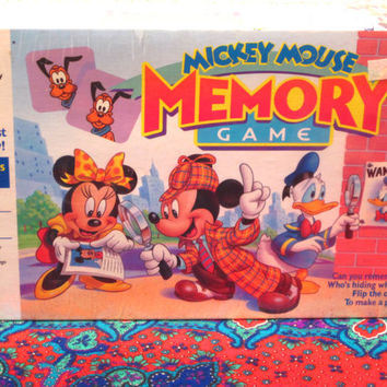 Mickey, Mouse, Memory, Sealed, Collectible, Game, Minnie, Walt, Disney, Character, Milton, Bradly, Toddler, Children, Edu, Development, Card