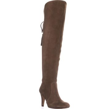 Vince Camuto Cherline Rear Lace Over-The-Knee Boots, Valleywood, 6 US / 36 EU