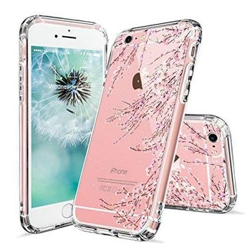 iPhone 6s Case, iPhone 6 Clear Case, MOSNOVO Cherry Blossom Floral Printed Flower Clear Design Transparent Plastic Hard Back Case with TPU Bumper Gel Protective Cover for Apple iPhone 6 6s (4.7 Inch)