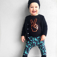 2016 Baby Boy Clothes Autumn Cotton Fashion Baby Boys Clothing Set Long Sleeve T-shirt +Pants 2Pcs