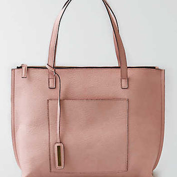 Street Level Zipper Tote, Pink
