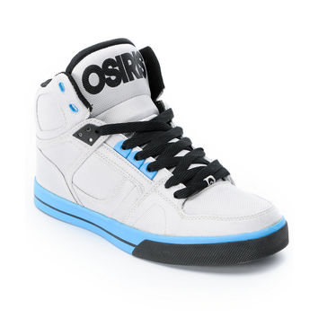 Osiris NYC 83 VLC Ballistic Grey & Cyan Skate Shoe at Zumiez : PDP