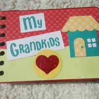 4x6 Chipboard Grandchildren Scrapbook Album