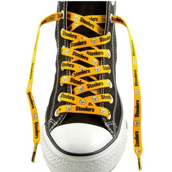 """Pittsburgh Steelers Shoe Laces - 54"""" Gold"""