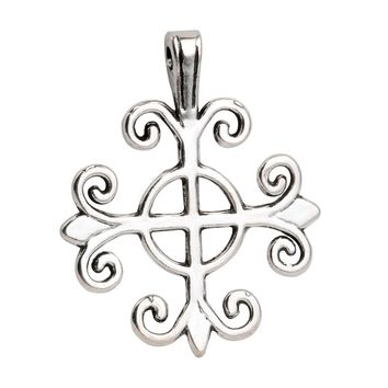 20 Pieces Inspirational Powers Celtic Cross Charms Findings for Pendant Necklace Making 26 X 25mm