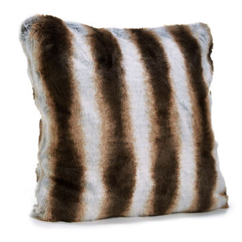 Chinchilla Faux Fur Pillows by Fabulous Furs