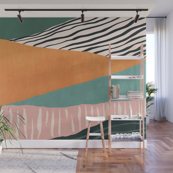 Modern irregular Stripes 02 Wall Mural by vivigonzalezart