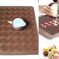 Longzang 48-Capacity Macarons Mat and Decorating Flower Tools