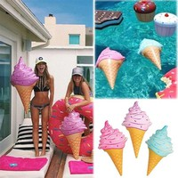 Swim Ring Water Ice cream inflatable swimming pool Accessories Pool Float PVC toys float funny kids Baby Children summer
