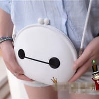 Cartoon Baymax White Fat Silicone Cross-body Bag Fashion Purse Kawaii Gift