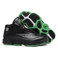 [Free Shipping ]Air Jordan 13 Black Basketball Sneaker