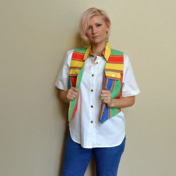 90's Vingtage Shirt and Vest Combo Fresh Prince Style, Medium