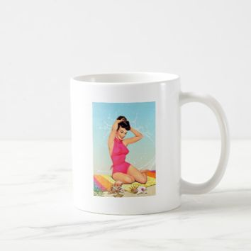 Retro Pinup Girl Coffee Mug