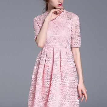 All-Over Lace Midi Dress