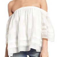 J.O.A. Tiered Off the Shoulder Top | Nordstrom