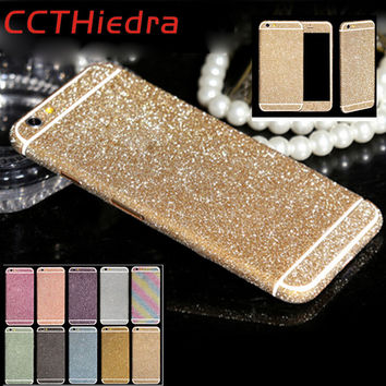 For iphone 6s Bling protective Full Film Decals Case Matte Shiny Glitter insulation Cover 8 colors stickers Case For iPhone 6