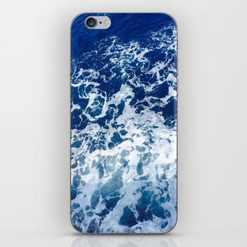 Sea Waves iPhone Skin by Jenna C.