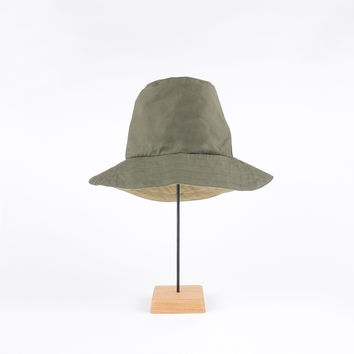 MILL MERCANTILE - Monitaly - Reversible Hat in Vancloth Olive and Khaki