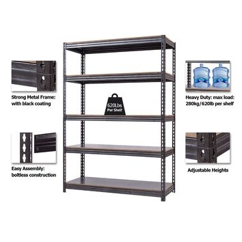 """72"""" x 48"""" Heavy Duty 5 Level Adjustable Storage Garage Shelf This is brand new 5 layer storage rack. Whether you are looking something to store tools, food, books, clothes or even paint tins, this is the ideal solution."""