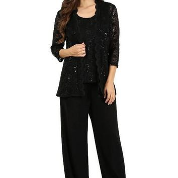 Long Mother of the Bride Pant Suit Formal