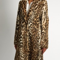 Leopard-print rabbit-fur coat | MSGM | MATCHESFASHION.COM US