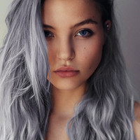 Silver Grey Hair Chalk - Salon Grade Temporary Hair Chalk - 1 Large Stick