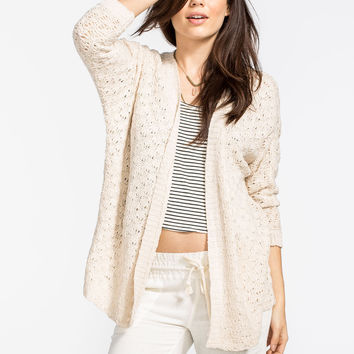 WOVEN HEART Open Stitch Womens Cocoon Cardigan | Cardigans & Wraps