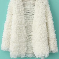 Loose Round Neck Thickening Coarse Needle Circle Wool Cardigan,Cheap in Wendybox.com