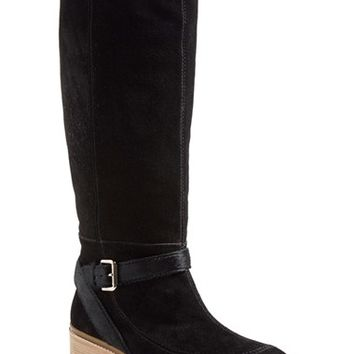 Women's 10 Crosby Derek Lam 'Edie' Suede & Calf Hair Wedge Boot,