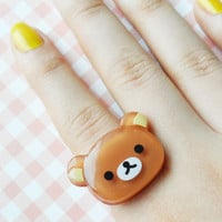 Big teddy ring - BROWN