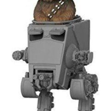Funko Pop Deluxe: Star Wars-Chewbacca in AT-ST Collectible Toy