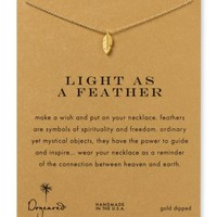 Dogeared Light as a Feather Necklace, 18"