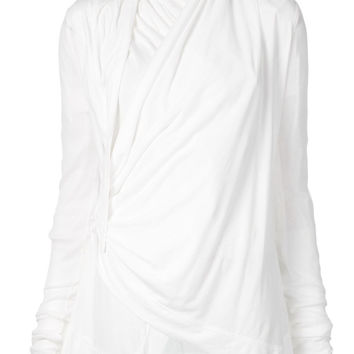 Rick Owens Lilies | Crossed Front Drapey Jacket
