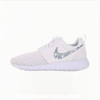 Nike Roshe Run With Swarovski Crysral Rhinestones - Bling Nikes, Bling Shoes, Bling nike shoes