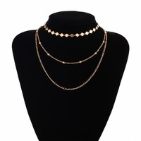 Gold Color Chain Necklace For Women Choker Necklace Pendants Chocker Collier Femme Colares mujer Jewlery collares ras de cou