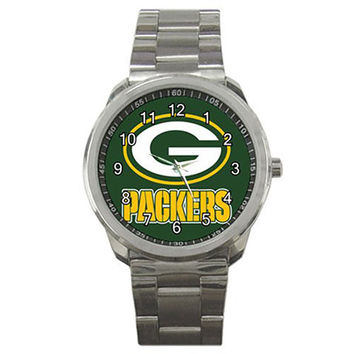 Green Bay Neoprene Metal Watch