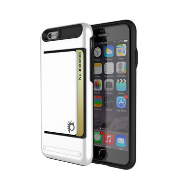 iPhone 6/6s Case PunkCase CLUTCH White Series Slim Armor Soft Cover Case w/ Tempered Glass