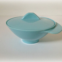 Melmac Sugar Dish Space Age Turquoise by vintage19something