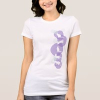 Cats Blue Violet Watercolor Effect Abstract Modern T-Shirt