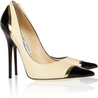 Jimmy Choo | Limit tri-tone leather pumps | NET-A-PORTER.COM