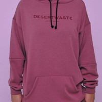 Hoodie Classic Logo Dirty Purple Woman | Desert-waste