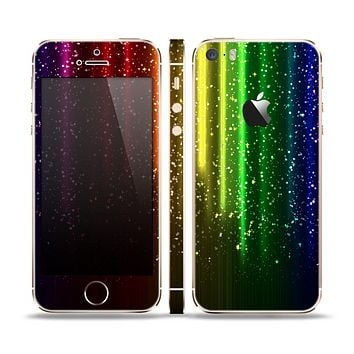 The Neon Glowing Rain Skin Set for the Apple iPhone 5s