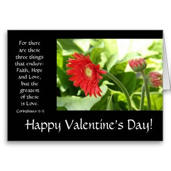 Valentine's Day Card, floral, bible verse on love