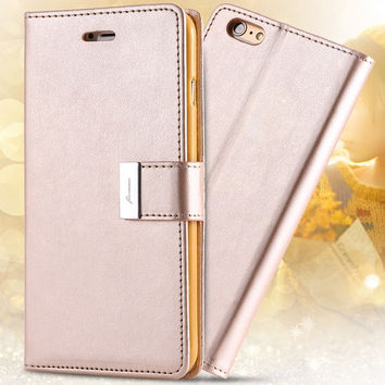 I6/6 Plus Luxury Original Case PU Leather Cover Bag For Iphone 6 4.7inch / 5.5inch Plus Full Protect Wallet Case