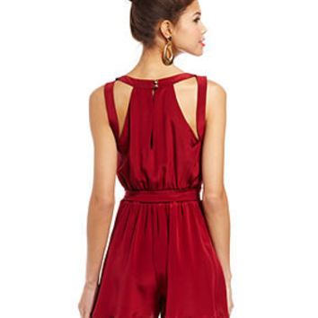 Chord Juniors Romper, Sleeveless V-Neck Belted - Juniors Jumpsuits & Rompers - Macy's