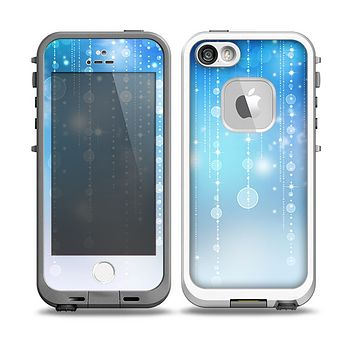 The Translucent Blue & White Jewels Skin for the iPhone 5-5s fre LifeProof Case