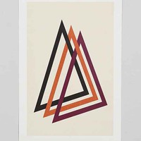 Marcus Butt Geo Triangle Art Print - Multi One