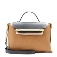 chloé - clare medium leather shoulder bag
