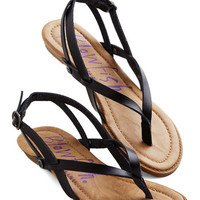 ModCloth Camp Hardly Wait Sandal in Black
