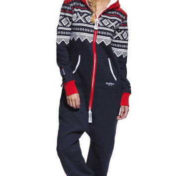 Marius Onesuit Navy/Red/White